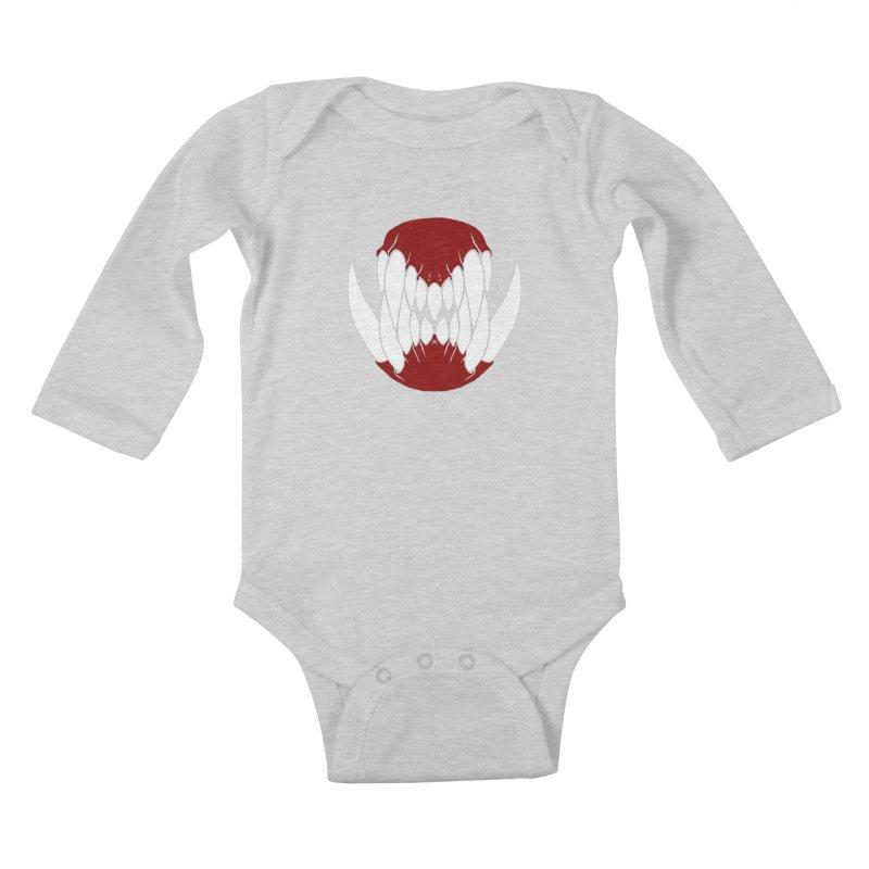 Ball Of Teeth Kids Baby Longsleeve Bodysuit by Necrotic Pixie's Artist Shop