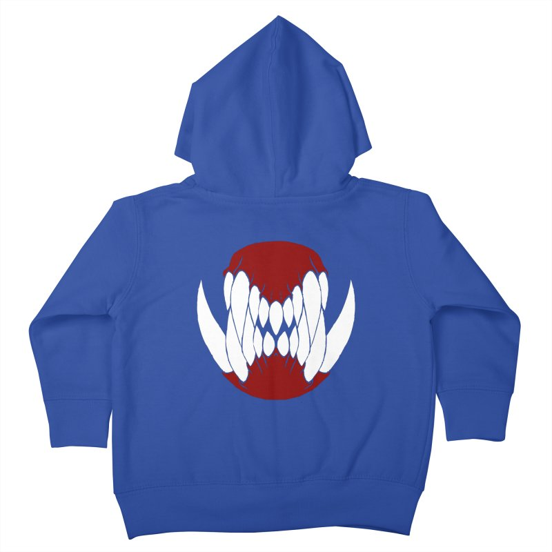 Ball Of Teeth Kids Toddler Zip-Up Hoody by Necrotic Pixie's Artist Shop