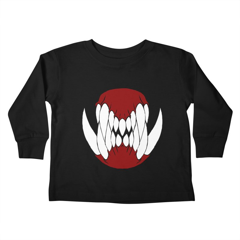 Ball Of Teeth Kids Toddler Longsleeve T-Shirt by Necrotic Pixie's Artist Shop