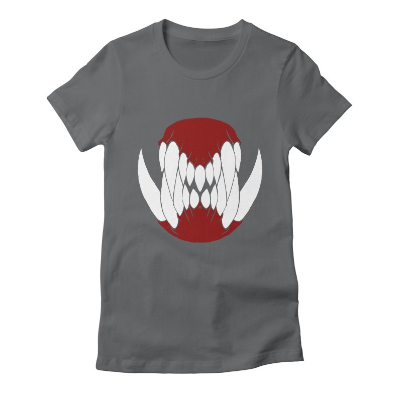 Ball Of Teeth Women's Fitted T-Shirt by Necrotic Pixie's Artist Shop