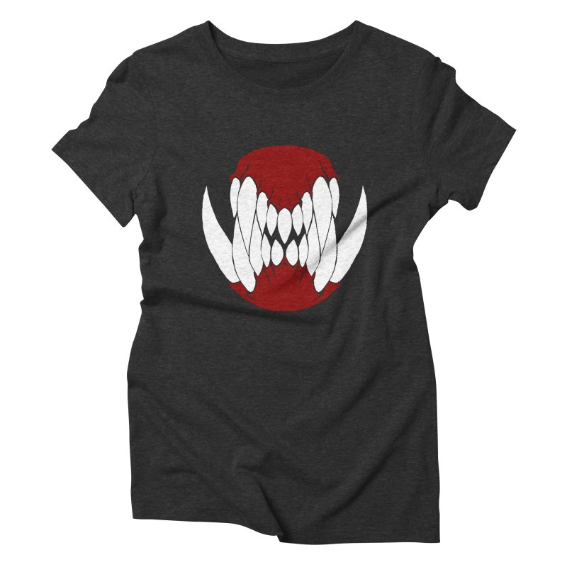 Ball Of Teeth Women's Triblend T-shirt by Necrotic Pixie's Artist Shop