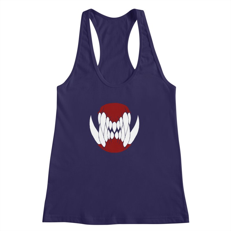 Ball Of Teeth Women's Racerback Tank by Necrotic Pixie's Artist Shop