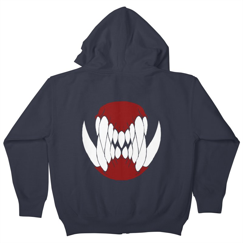 Ball Of Teeth Kids Zip-Up Hoody by Necrotic Pixie's Artist Shop