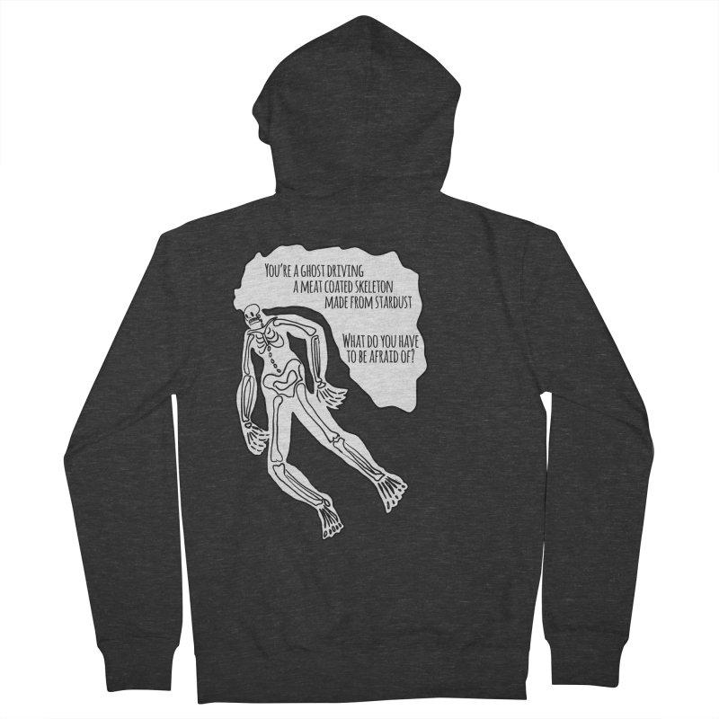 Ghostronaut Men's Zip-Up Hoody by Necrotic Pixie's Artist Shop