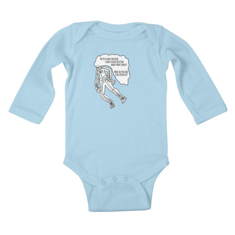Ghostronaut Kids Baby Longsleeve Bodysuit by Necrotic Pixie's Artist Shop