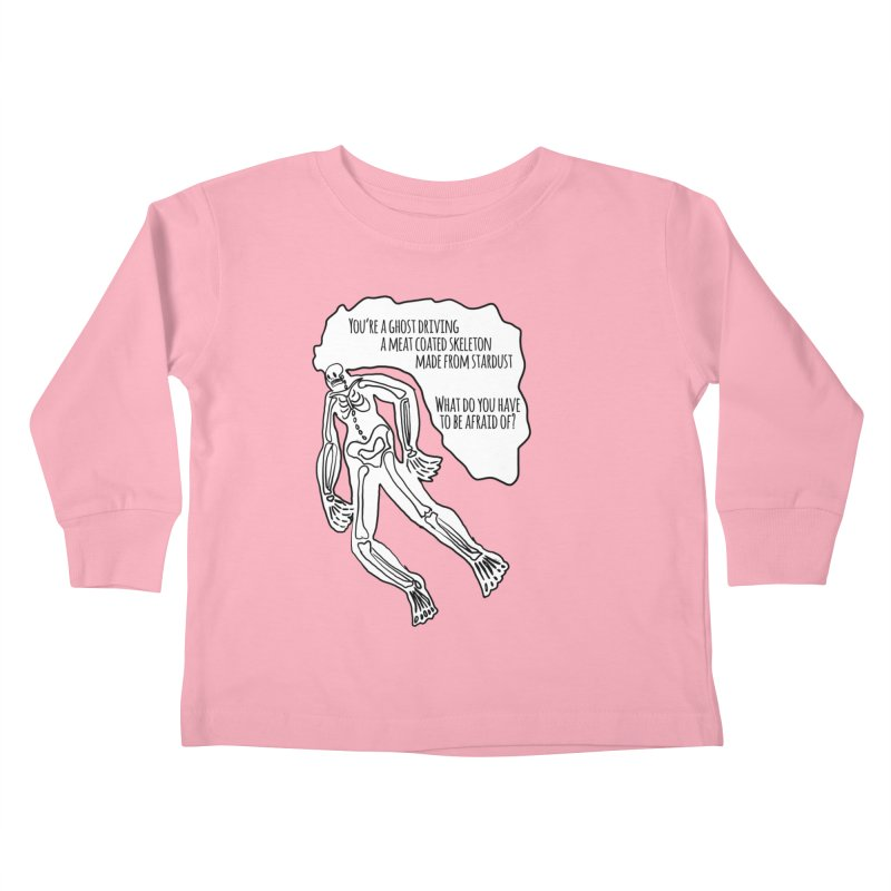 Ghostronaut Kids Toddler Longsleeve T-Shirt by Necrotic Pixie's Artist Shop