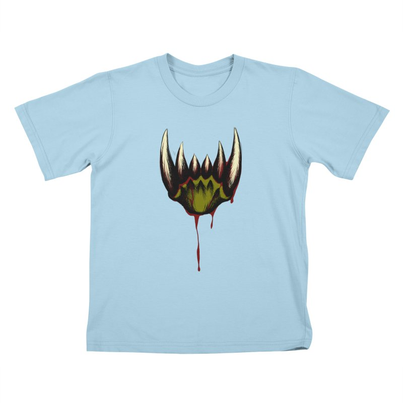 Howl in Kids T-shirt Powder Blue by Necrotic Pixie's Artist Shop