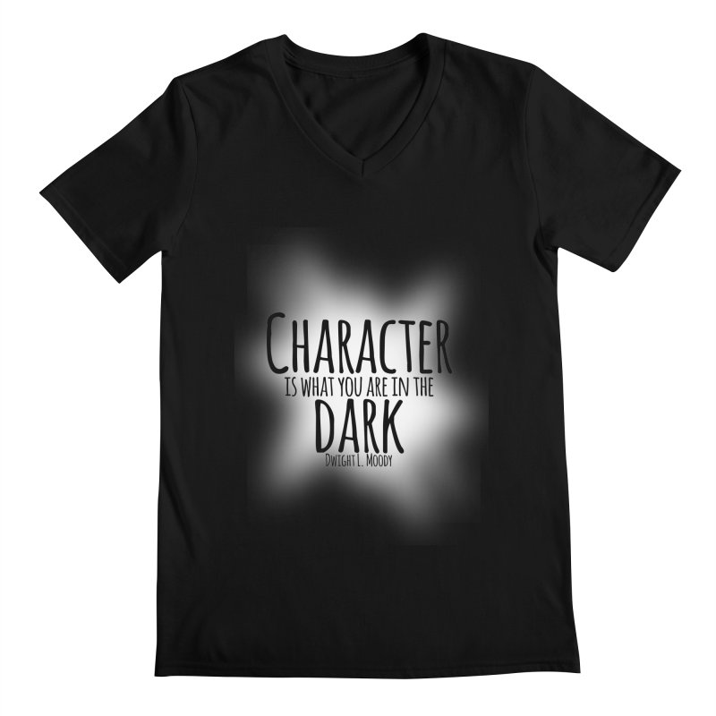 Who We Are In The Dark Men's V-Neck by Necrotic Pixie's Artist Shop