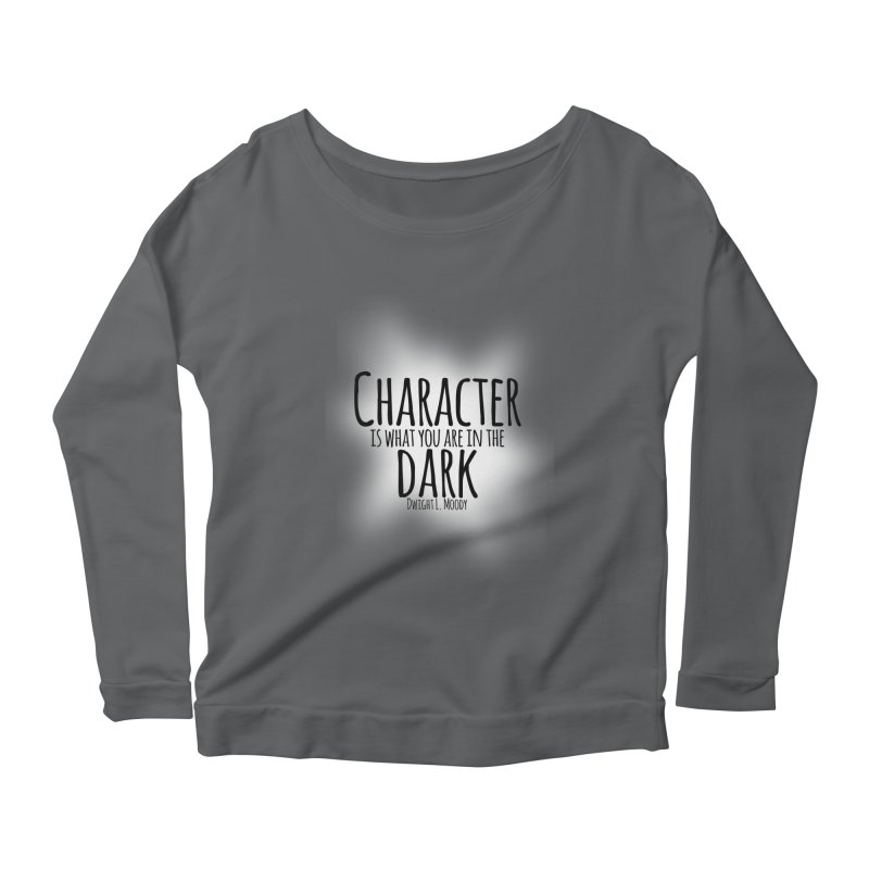Who We Are In The Dark Women's Longsleeve Scoopneck  by Necrotic Pixie's Artist Shop