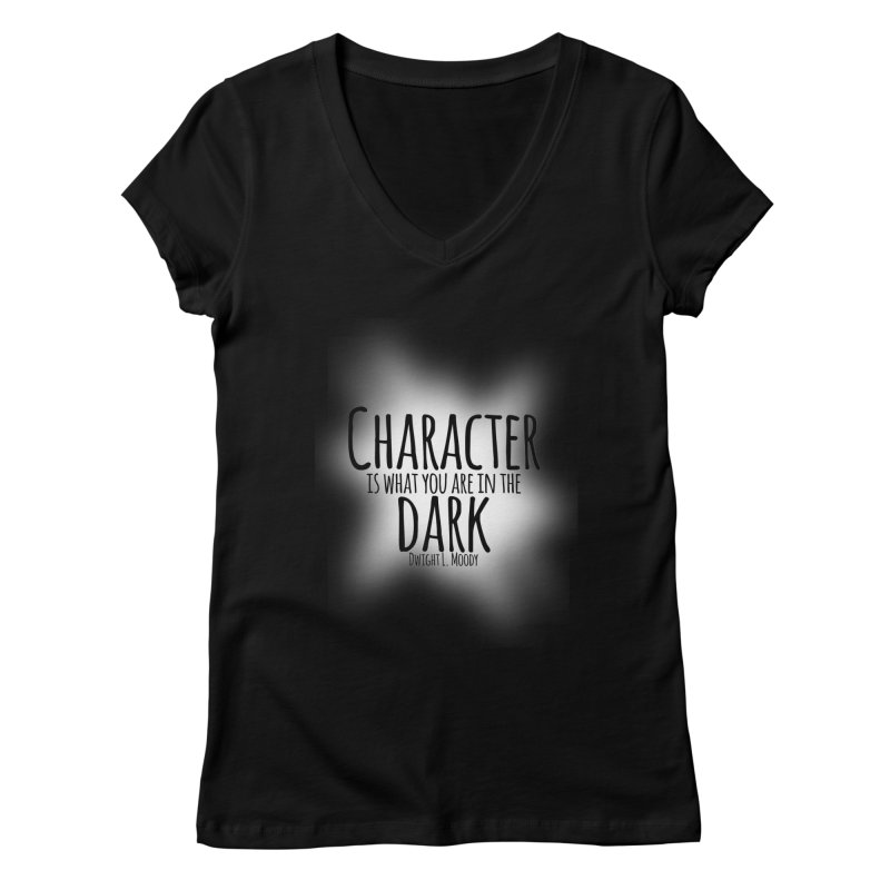 Who We Are In The Dark Women's V-Neck by Necrotic Pixie's Artist Shop