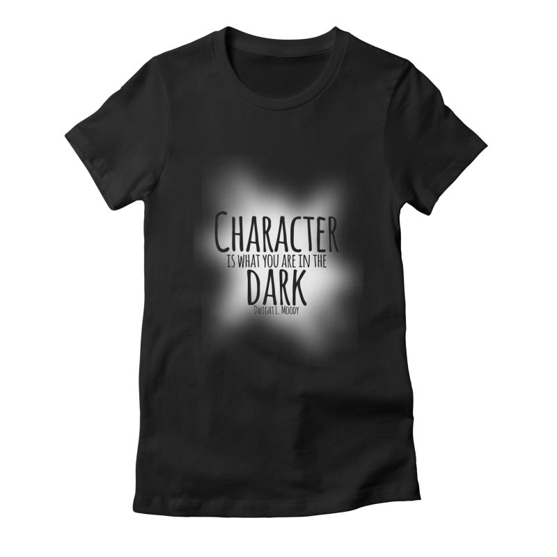 Who We Are In The Dark Women's Fitted T-Shirt by Necrotic Pixie's Artist Shop