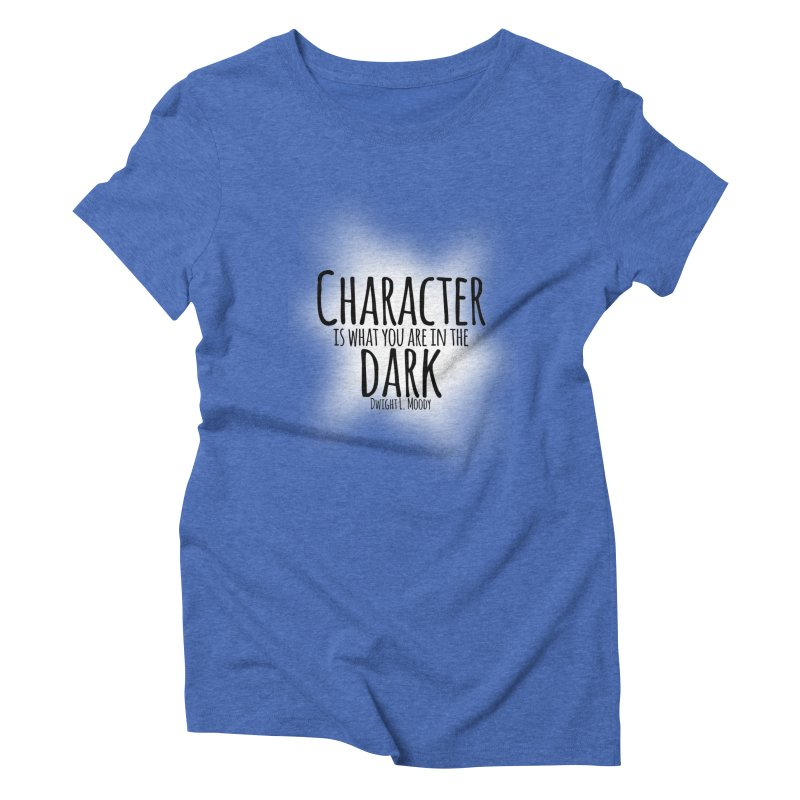 Who We Are In The Dark Women's Triblend T-shirt by Necrotic Pixie's Artist Shop