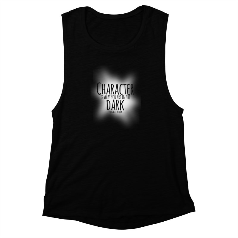 Who We Are In The Dark Women's Muscle Tank by Necrotic Pixie's Artist Shop