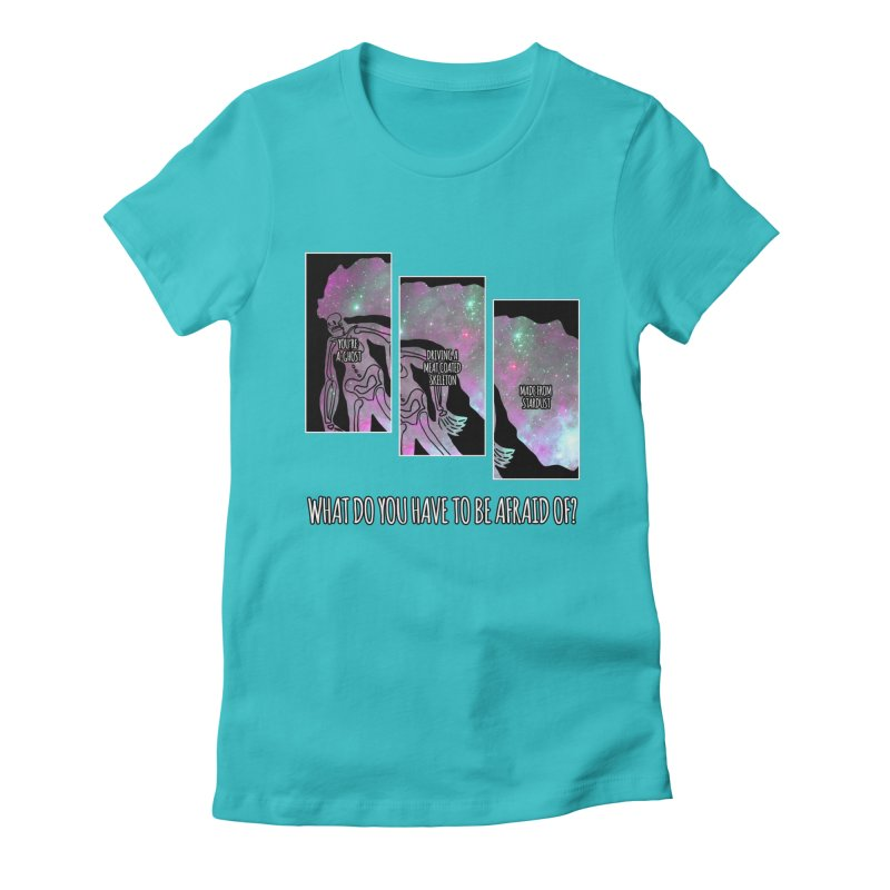 Ghostronaut Women's Fitted T-Shirt by Necrotic Pixie's Artist Shop