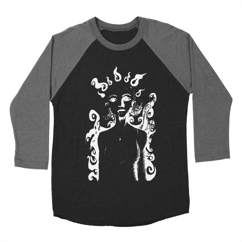 Girl and her Monsters Women's Baseball Triblend T-Shirt by Necrotic Pixie's Artist Shop