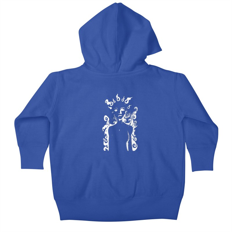 Girl and her Monsters Kids Baby Zip-Up Hoody by Necrotic Pixie's Artist Shop