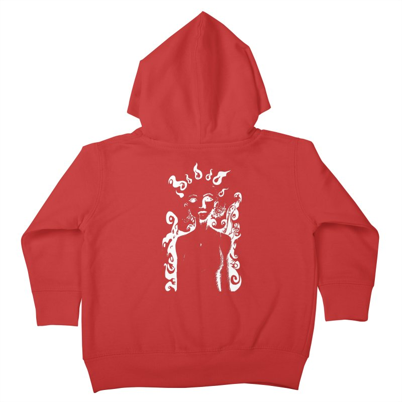 Girl and her Monsters Kids Toddler Zip-Up Hoody by Necrotic Pixie's Artist Shop