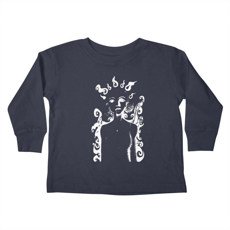 Girl and her Monsters Kids Toddler Longsleeve T-Shirt by Necrotic Pixie's Artist Shop