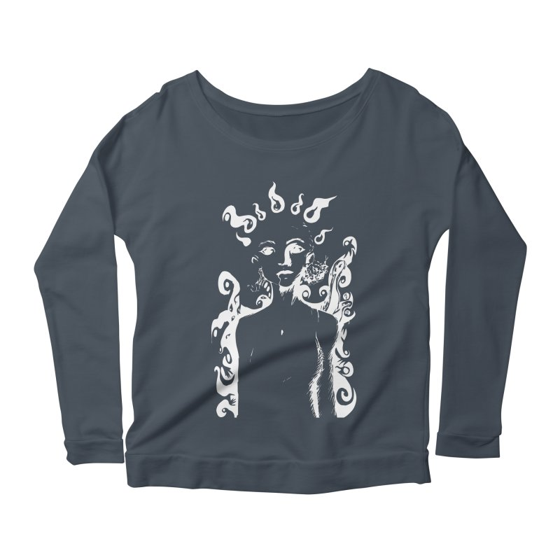 Girl and her Monsters Women's Longsleeve Scoopneck  by Necrotic Pixie's Artist Shop