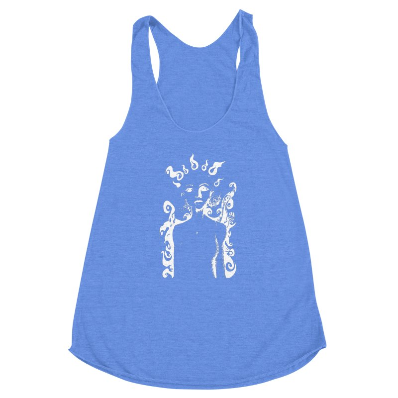 Girl and her Monsters Women's Racerback Triblend Tank by Necrotic Pixie's Artist Shop