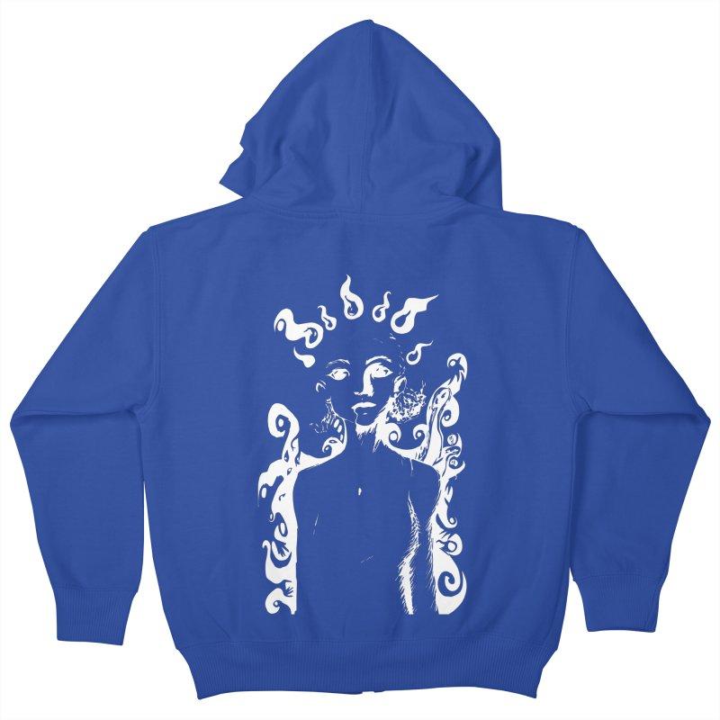 Girl and her Monsters Kids Zip-Up Hoody by Necrotic Pixie's Artist Shop