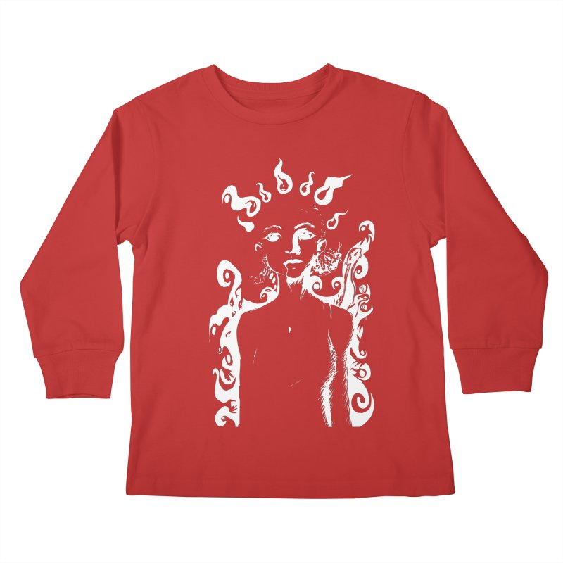 Girl and her Monsters Kids Longsleeve T-Shirt by Necrotic Pixie's Artist Shop