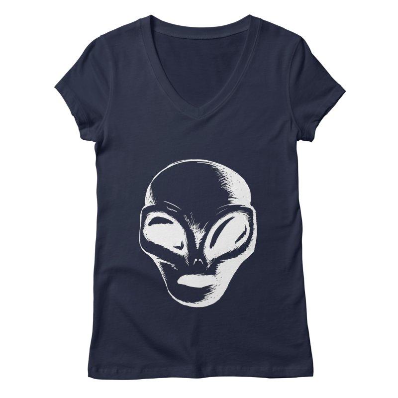 Alien Women's V-Neck by Necrotic Pixie's Artist Shop