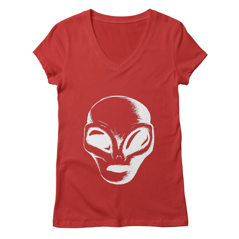Alien Women's V-Neck by Necrotic Pixie's Artist Shop