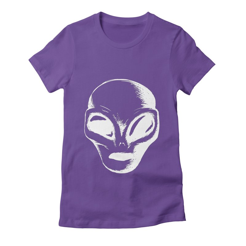 Alien Women's Fitted T-Shirt by Necrotic Pixie's Artist Shop