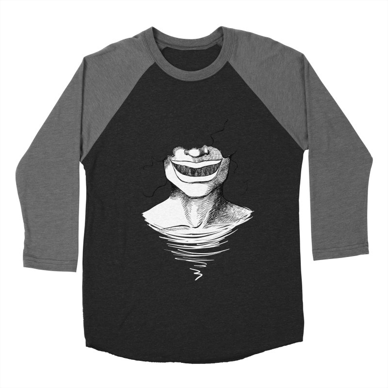 Demon's Smile Men's Baseball Triblend T-Shirt by Necrotic Pixie's Artist Shop