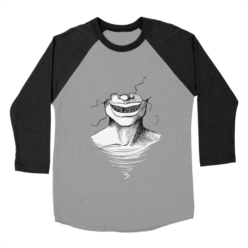 Demon's Smile Men's Baseball Triblend T-Shirt by Necrotic Pixie's Artist Shop