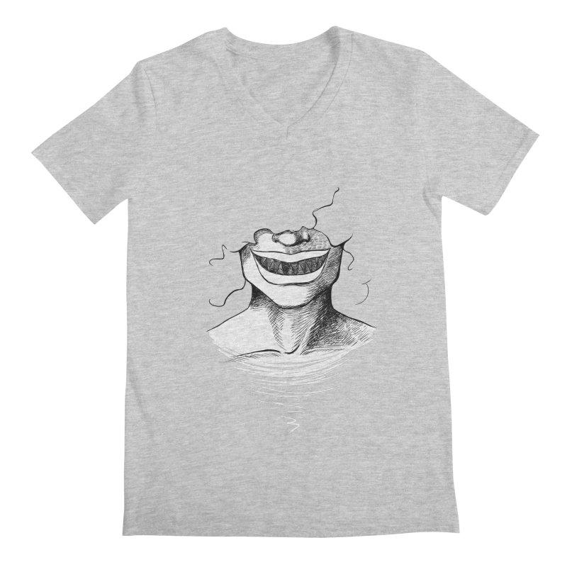 Demon's Smile Men's V-Neck by Necrotic Pixie's Artist Shop