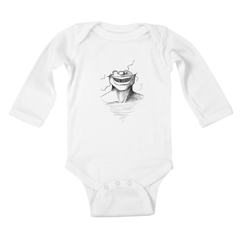 Demon's Smile Kids Baby Longsleeve Bodysuit by Necrotic Pixie's Artist Shop