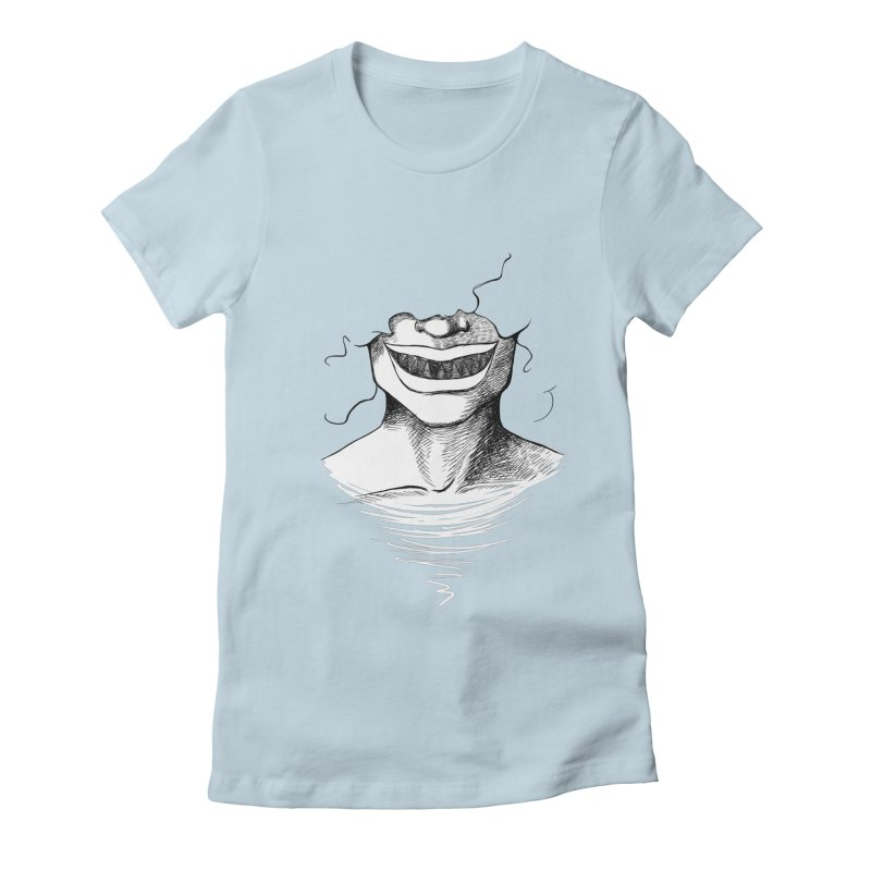 Demon's Smile Women's Fitted T-Shirt by Necrotic Pixie's Artist Shop