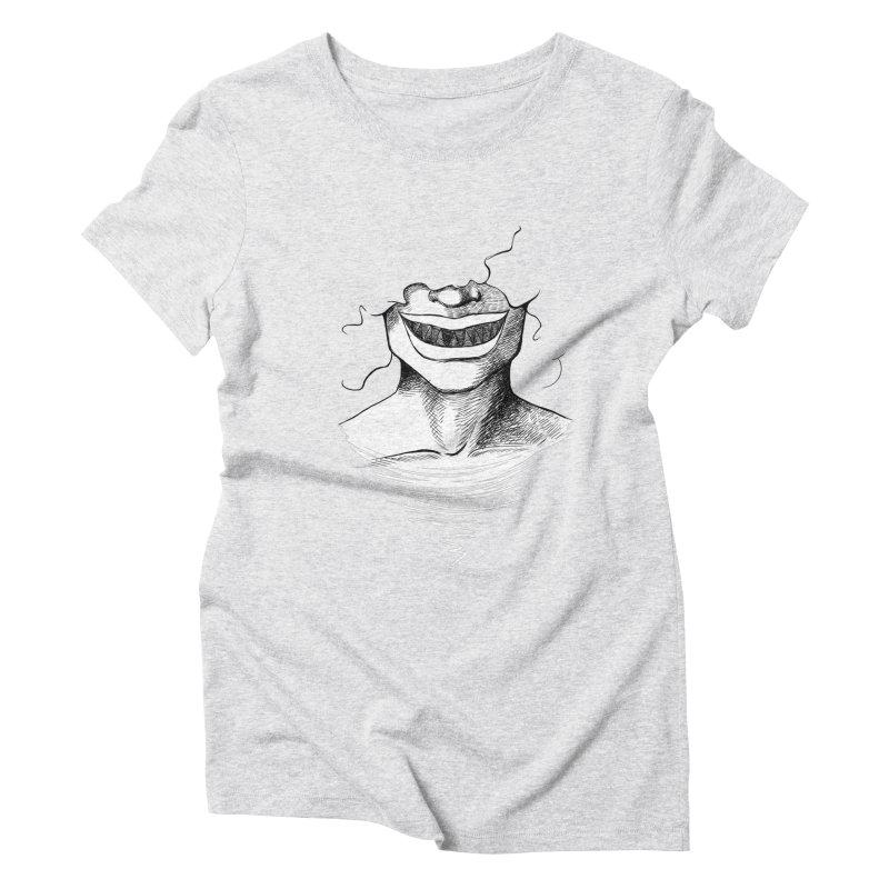 Demon's Smile Women's Triblend T-shirt by Necrotic Pixie's Artist Shop