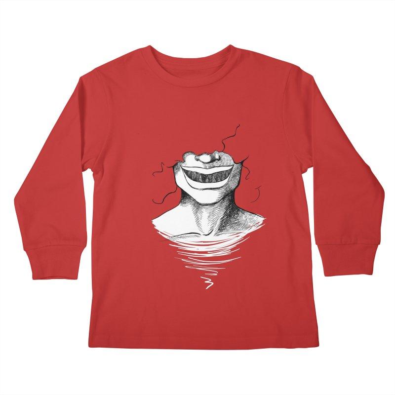 Demon's Smile Kids Longsleeve T-Shirt by Necrotic Pixie's Artist Shop