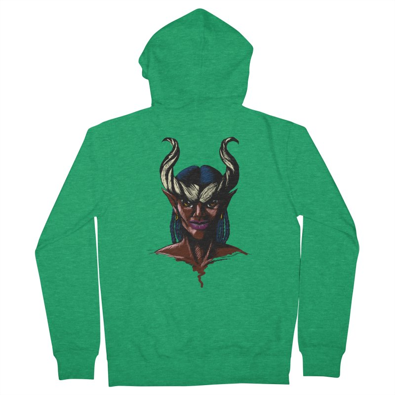 Tiefling Women's Zip-Up Hoody by Necrotic Pixie's Artist Shop