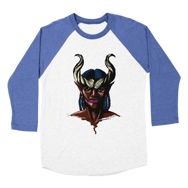 Tiefling Men's Baseball Triblend T-Shirt by Necrotic Pixie's Artist Shop