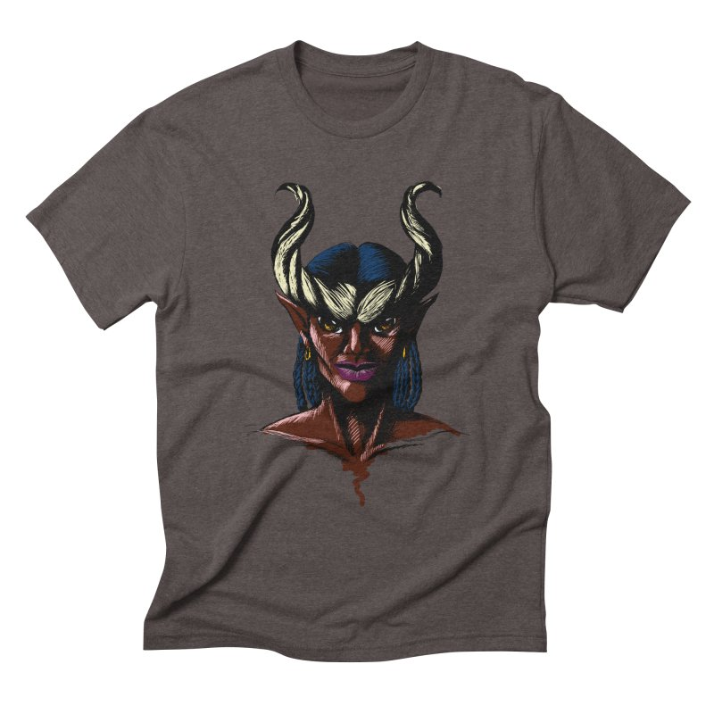Tiefling Men's Triblend T-shirt by Necrotic Pixie's Artist Shop