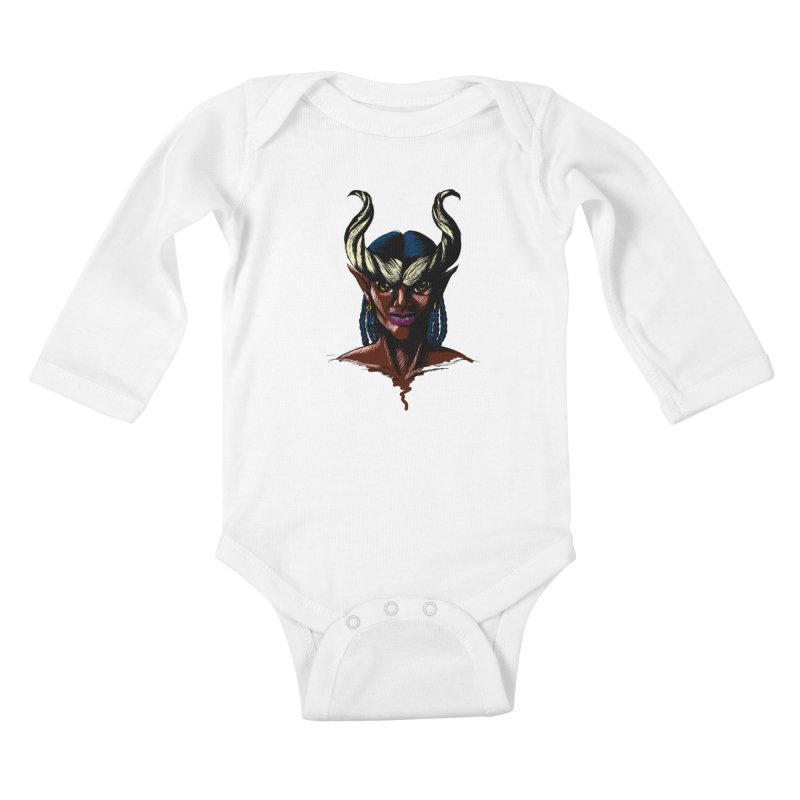 Tiefling Kids Baby Longsleeve Bodysuit by Necrotic Pixie's Artist Shop