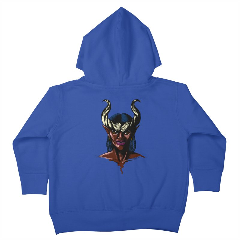 Tiefling Kids Toddler Zip-Up Hoody by Necrotic Pixie's Artist Shop