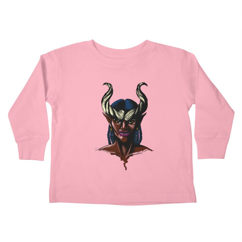 Tiefling Kids Toddler Longsleeve T-Shirt by Necrotic Pixie's Artist Shop