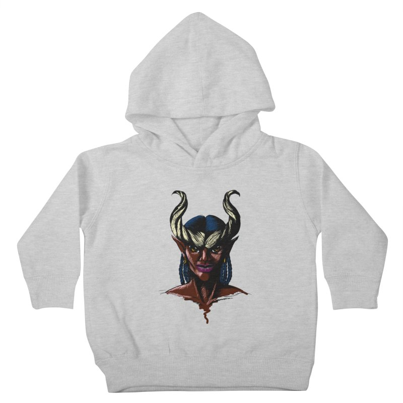 Tiefling Kids Toddler Pullover Hoody by Necrotic Pixie's Artist Shop