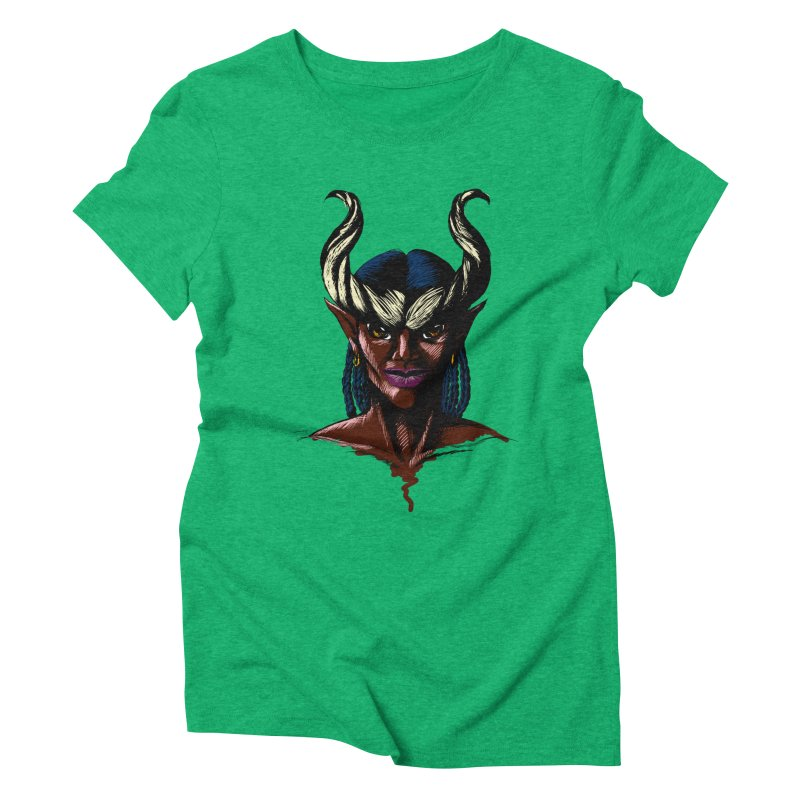 Tiefling Women's Triblend T-Shirt by Necrotic Pixie's Artist Shop
