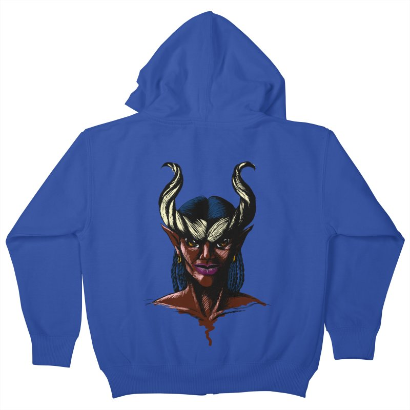 Tiefling Kids Zip-Up Hoody by Necrotic Pixie's Artist Shop