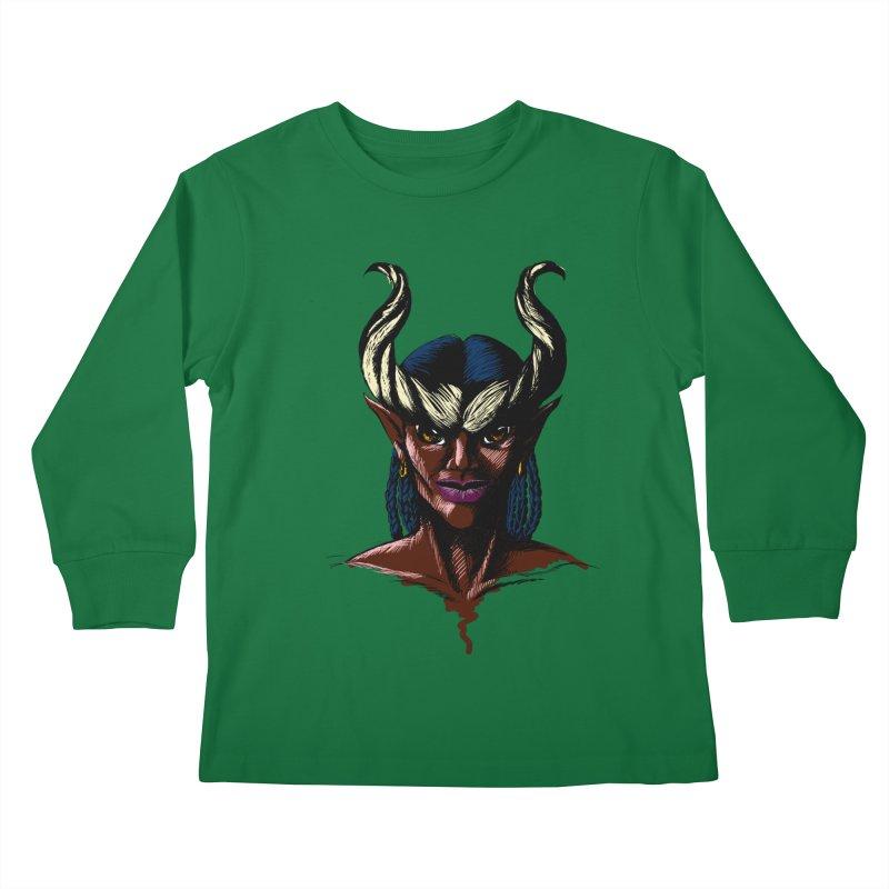 Tiefling Kids Longsleeve T-Shirt by Necrotic Pixie's Artist Shop
