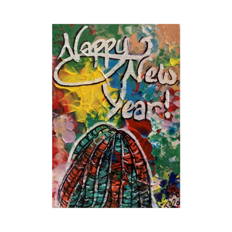 Nappy New Year Accessories Greeting Card by needsartsupplies's Artist Shop
