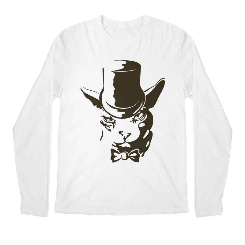 Serious  Sphynx Men's Longsleeve T-Shirt by nefertitiart's Artist Shop