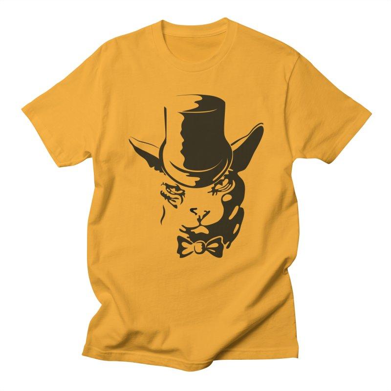 Serious  Sphynx Men's T-Shirt by nefertitiart's Artist Shop