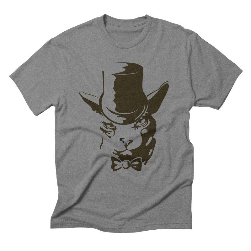 Serious  Sphynx Men's Triblend T-Shirt by nefertitiart's Artist Shop